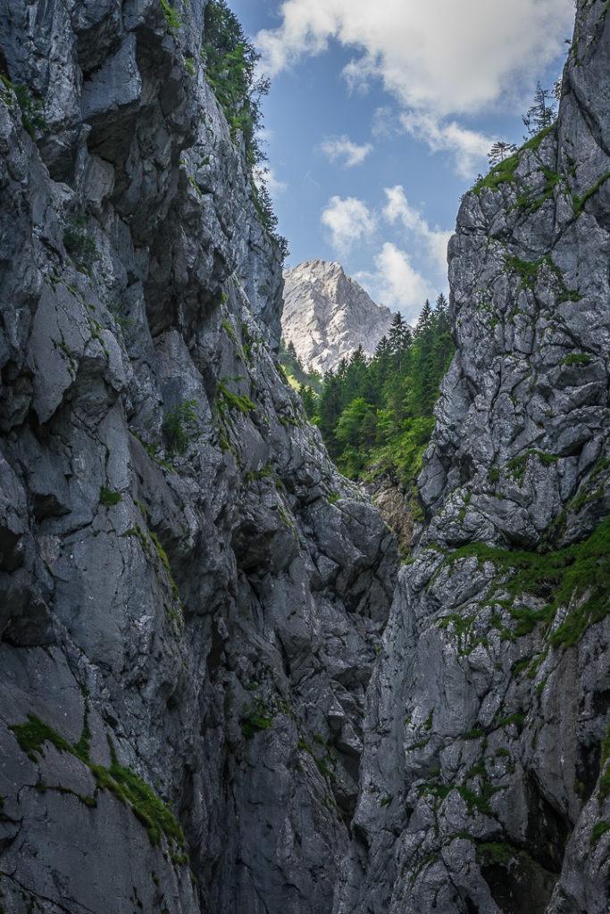 Blick zum höchsten Berg Deutschlands