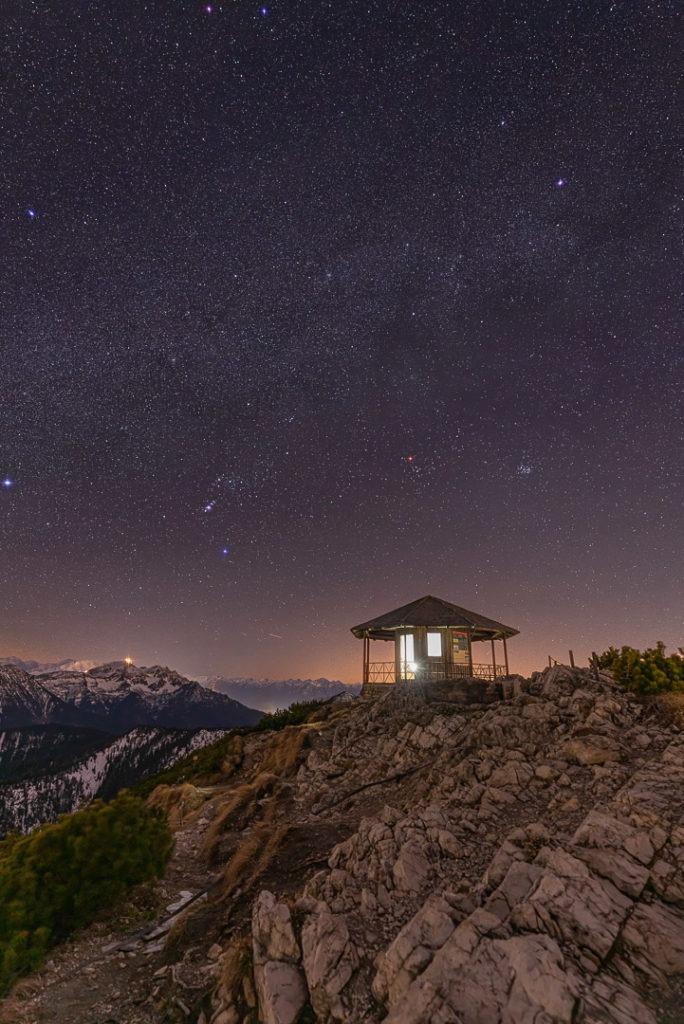 Sternenklarer Himmel in den Alpen