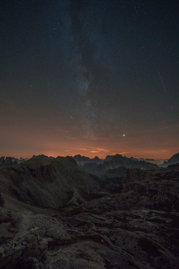 Milchstraße in den Dolomiten