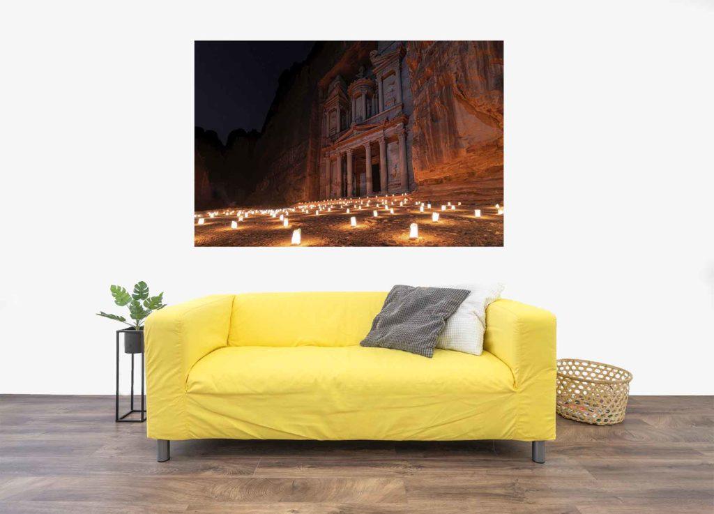 Dein Bild über dem Sofa