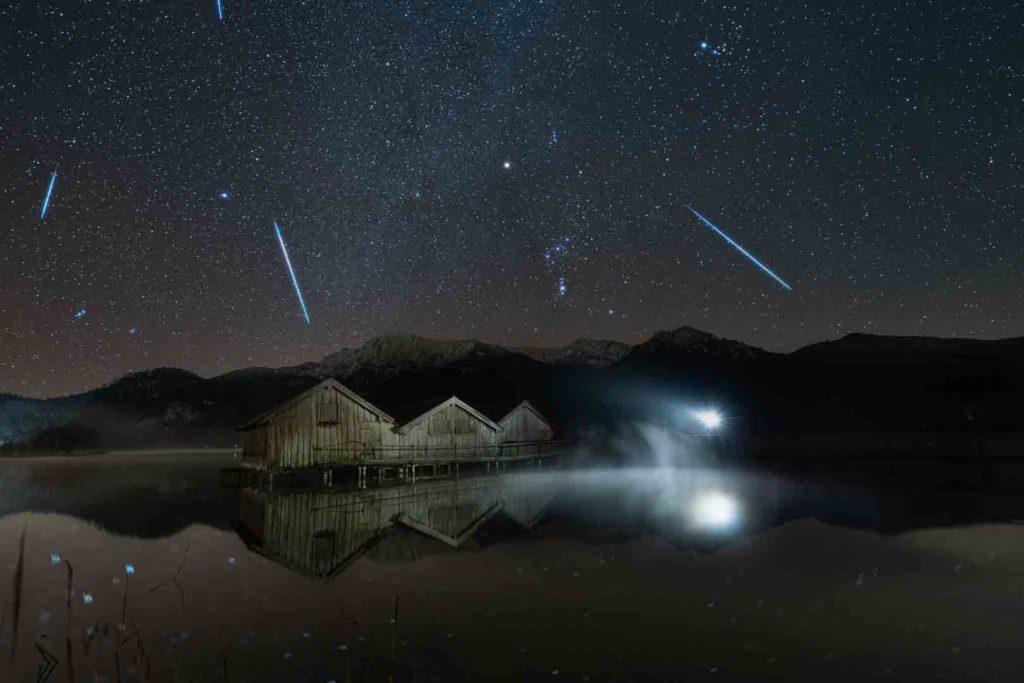 Sternschnuppen wohin das Auge reicht in den Alpen
